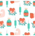 vaccination seamless pattern vaccine vector image vector image