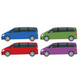 view side electric minivan with premium touches vector image vector image