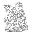 viking scandinavian design ancient decorative vector image vector image