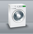 wash machine realistic image vector image