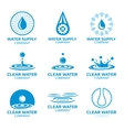 Water splashes and drops logos vector image vector image