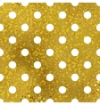 White and gold pattern Abstract polka dot vector image