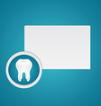 White healthy teeth vector image vector image