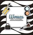 women fashion accesories vector image vector image