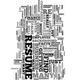 would you lie on your resume text word cloud vector image vector image