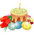 cake eggs tylips vector image