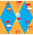 Seamless Pattern With Chairs vector image
