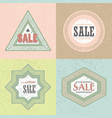 geometrical retro textured shapes sale emblems set vector image