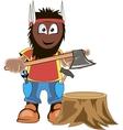 LumberJack Holding Axe Cartoon vector image