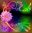 abstract background with flowers and butterflies vector image
