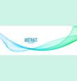 abstract blue transparent wavy lines banner design vector image