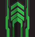 abstract green gray arrow futuristic vector image vector image