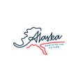 alaska lettering map letter mark hand lettering vector image