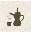 Arabic coffee pot vector image