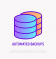 automated backups thin line icon modern vector image