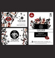 banner and card for master class makeup artist vector image