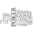 beginners strategy for pai gow poker text word vector image vector image