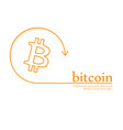 bitcoin money icon banner crypto-currency coin vector image