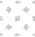 bowling shoes pattern seamless vector image vector image