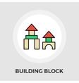 Building block icon vector image vector image