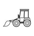 bulldozer flat icon monochrome dotted silhouette vector image vector image