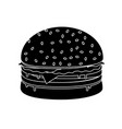 burger sandwich food icon burger vector image