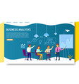 business analysis landing page website vector image vector image