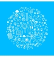 Business doodles icons vector image vector image