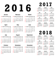 Calendars for 2016-2018 vector image