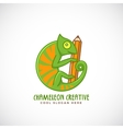Chameleon Creative Abstract Line Style vector image