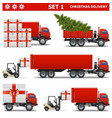 Christmas Delivery Set 1 vector image vector image