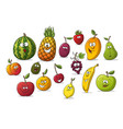 collection of some different cartoon fruits vector image