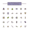 Colored Internet Line Icons vector image