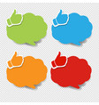 colorful speech bubble best price transparent vector image vector image