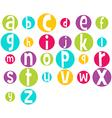 Crazy Bright Alphabet vector image