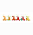 cute kawaii smiling cartoon fruits juice vector image