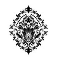 damask element isolated damask central vector image vector image