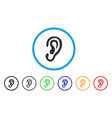 ear rounded icon vector image