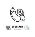 eggplant icon vegetables logo thin line vector image vector image