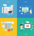 element education tutorial traning concept icon vector image