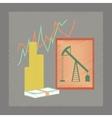 flat shading style icon lesson economy vector image