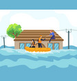 flood disaster concept vector image