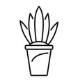 flower pot icon outline style vector image vector image
