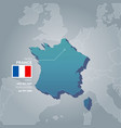 france information map vector image