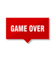 game over red tag vector image