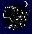 girl night vector image