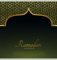 Golden mosque door with islamic pattern for vector image