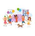 happy children having fun at party vector image
