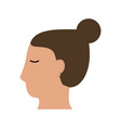 head of woman sideview icon image vector image vector image