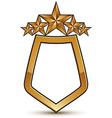 Heraldic template with five pentagonal golden vector image vector image